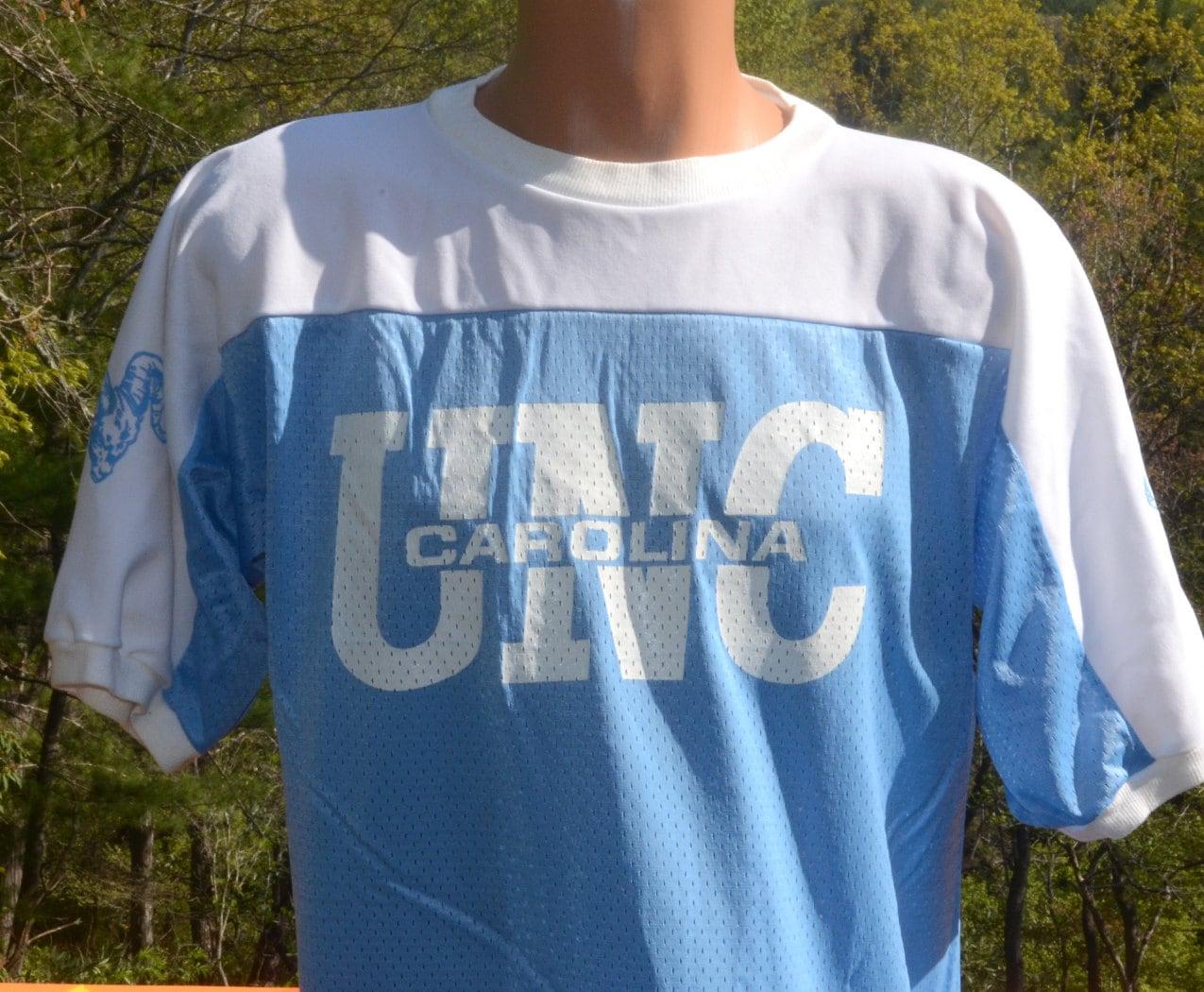 Vintage 70s unc t shirt tarheels basketball jersey university for University of north carolina t shirts
