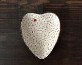 Heart Shaped Dish : Light Background Dots