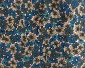 Pretty Floral Printed Cotton - 3 7/8 Yards