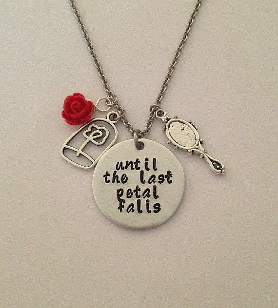 Disney beauty and the beast necklace until the last for Disney beauty and the beast jewelry