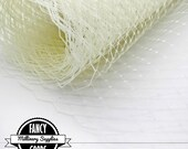 Ivory Veiling - Netting - Russian / French - Birdcage Veil Netting - Millinery - Bridal  - 1 Yard