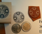 P63 Dr who symbol rubber stamp