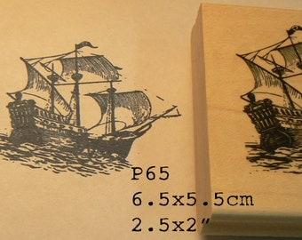 P65 Vintage ship rubber stamp