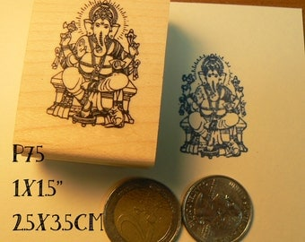 P75 Ganesha rubber stamp