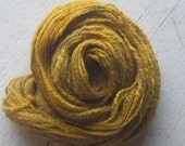 Handspun Alpaca Dyed Naturally With Our Farm Blend- (Zinnia, Marigolds, Dahlias and Sunflowers)