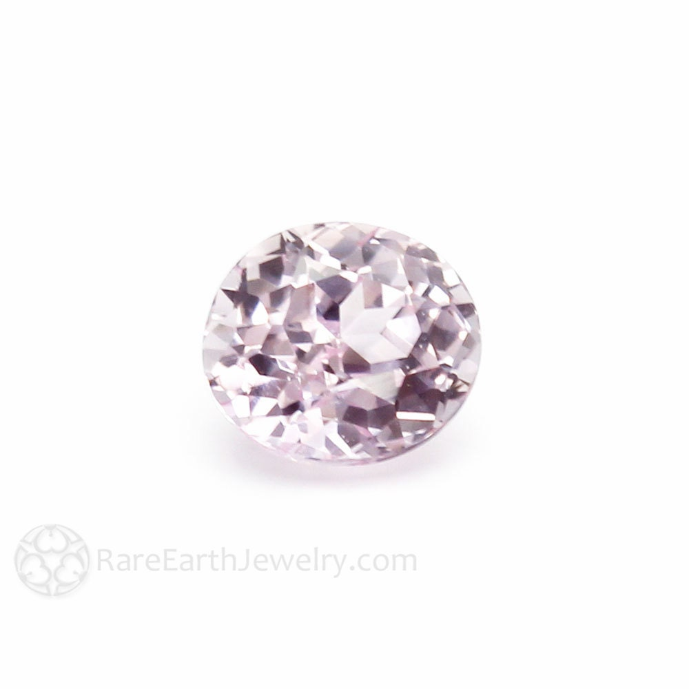 light pink sapphire gemstone oval faceted