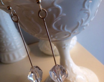 Pendalom crystal silver earrings