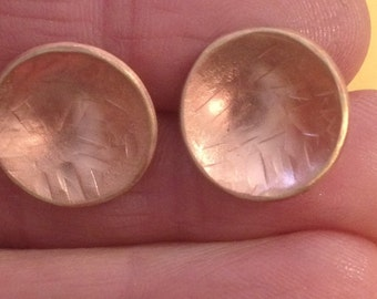 Little brass saucer earrings
