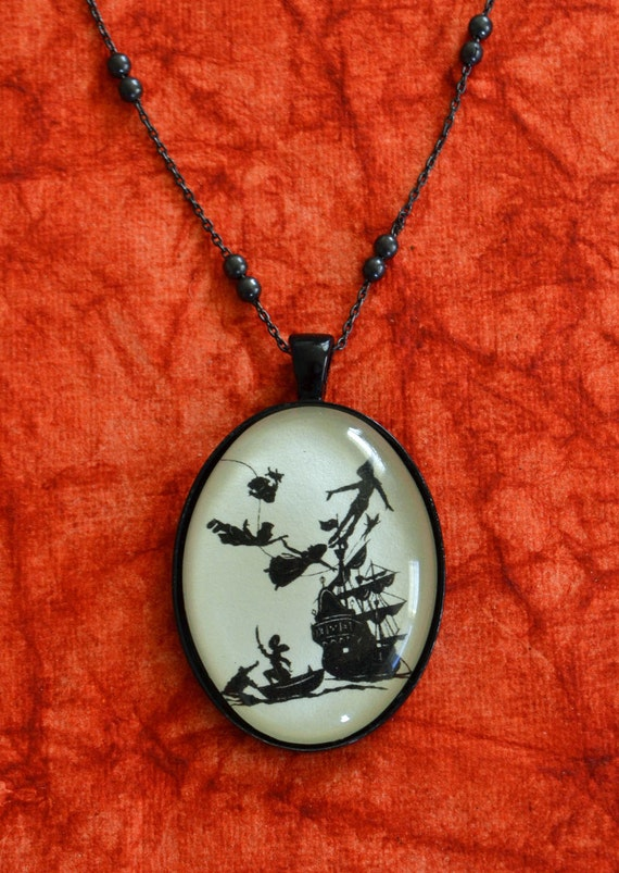 Sale 20% Off // PETER PAN Necklace, pendant on chain - Silhouette Jewelry // Coupon Code SALE20
