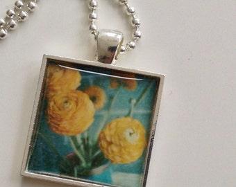 Ranunculus  Pendant - Flower Pendant