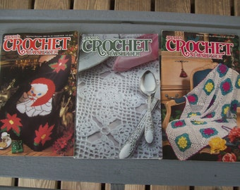Set of 3,Annie's,Crochet Newsletter,Crochet,Patterns,Supplies