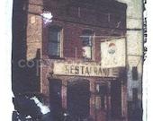 Polaroid transfer - C&O restaurant