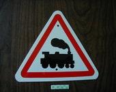 Aluminum MINIATURE TRAIN TRAFFIC Sign  Free Shipping