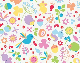 Wildflower Meadow fabric by Riley Blake and Fabric Shoppe Fabrics- Meadow Main in Multi, You Choose the Cut, Free Shipping Available
