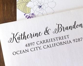 custom ADDRESS STAMP with proof from USA, Eco Friendly Self-Inking stamp, rsvp address stamp, custom stamp, custom calligraphy stamp 143