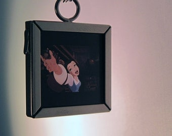 Recycled Beauty & The Beast Pendant Necklace
