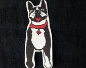 Boston terrier facing patch