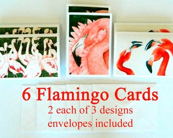 Flamingo Cards Assortment Blank, Flamingo Note Cards, flamingo greeting cards, flamingo notecards
