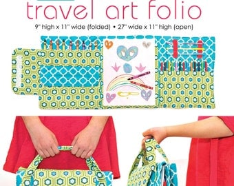 Travel Art Folio PDF Downloadable Pattern by MODKID - Instant Download