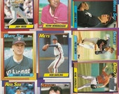 132 Old VINTAGE 1990 Topps BASEBALL PICTURE Cards