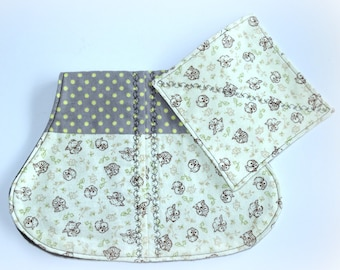 Baby Burp Cloth with Matching Wash Cloth