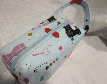 Sewing themed box bag