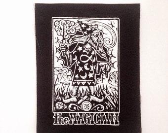 Tarot card sew on punk patch, Magican Tarot Patch, Sew On Punk Patch, Tarot Card Patch, Wizard Patch