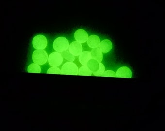 100 Glow in the Dark Fairy Stones Miniature Round