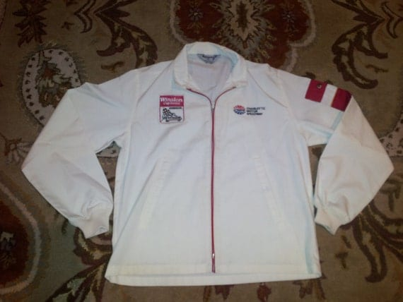 70s Winston Cup Jacket Mens Vintage Charlotte Motor By Parkerhawn