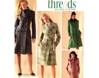 Simplicity 4403 Misses Classic Princess Lined Coat - Threads Magazine Collection Sewing Pattern - Size 8-10-12-14-16 Uncut