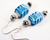 Snow Flurry Earrings, Free Shipping, OOAK, Laura Mae Jewelry