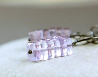 Purple Amethyst Earrings Oxidized Silver February Birthstone  Violet Gemstone Jewelry Long Dangle Earrings Women Jewelry Amethyst Jewellery