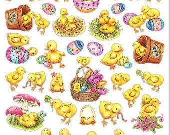 Duckling Stickers • Ducklings Easter • Easter Duckling Sticker • Happy Easter Sticker • Kawaii Stickers • Little Duck (SK4162)