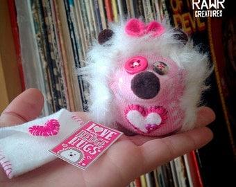 Valentine Sock Hedgehog with Tiny Card & Envelope