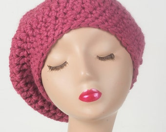Women's slouch beanie, beret style hat