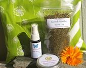 Sleep Gift Set - GREEN - Herbal Dream Pillow, Sleep, Calming, Bedtime, Gift Set, Natural Sleep, Herbal