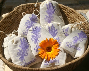 Lavender Sachets - 6 pack, Shower Favor, Wedding Favor, Teacher Gift, Hostess Gift, Thank You, Party Favor, Lavender Sachet, Lavender