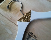 Gold Triangle or Chevron Glamorous Fashion Hanger Sparkle Glitter Hanger Wedding Hanger