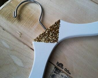 Gold Triangle or Chevron Glamorous Fashion Hanger Sparkle Glitter Hanger Wedding Hanger