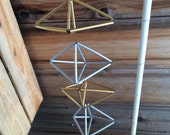 Geometric Ornament Set - gold & silver