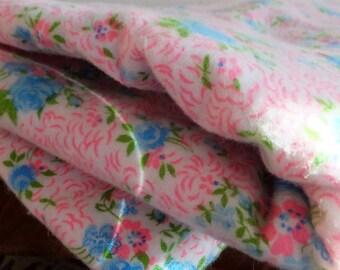 Vintage Style Floral Flannel Cotton Calico Vintage Nursery Fabric