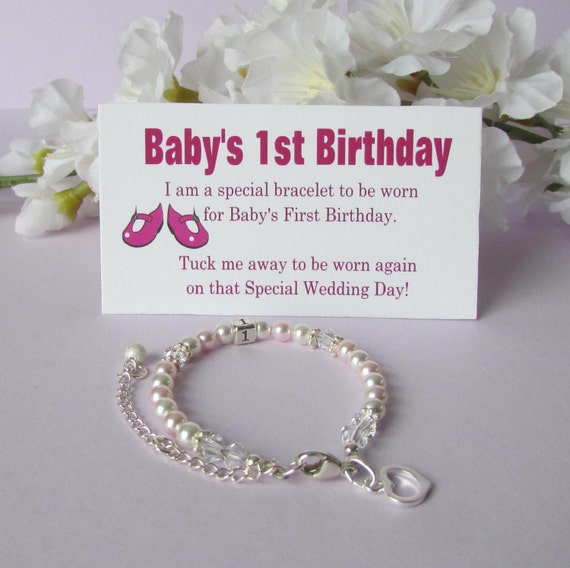 1st Birthday Quotes For A Girl: Baby's 1st Birthday Gift Bracelet Baby To Bride® Growing