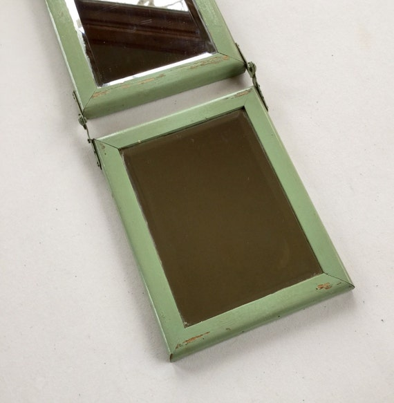 Trifold beveled glass mirror for Beveled glass mirror