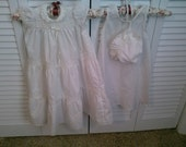SALE Vintage Polly Flinders christening gown 3 piece set 3-9 months size