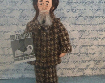 Alex Solzhenitsyn Doll Miniature Russian Author and Political Writer
