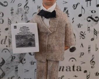 Richard Strauss German Composer Doll Miniature Musician