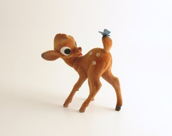 Vintage Deer Fawn Bambi Figurine Western Germany Christmas Decoration