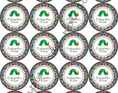 """INSTANT DOWNLOAD / Very Hungry Caterpillar Food 2"""" printable Party Circles / Cupcake Topper / Stickers / Thank You Tags"""