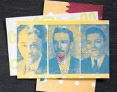 Funny Faces Letterpress Cards - On Sale