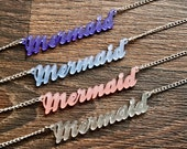 Mermaid Necklace, 4 Frosted Colours